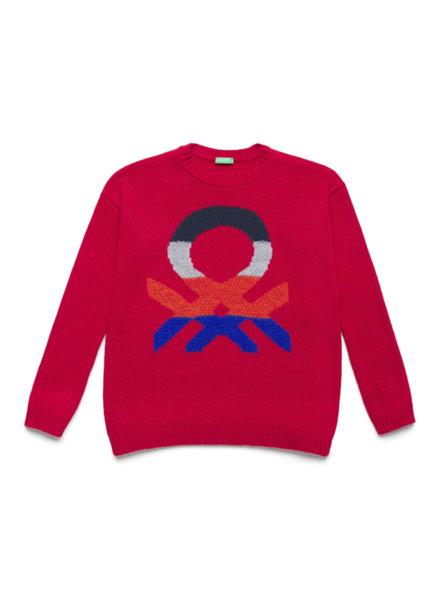 Пуловер с лого Benetton