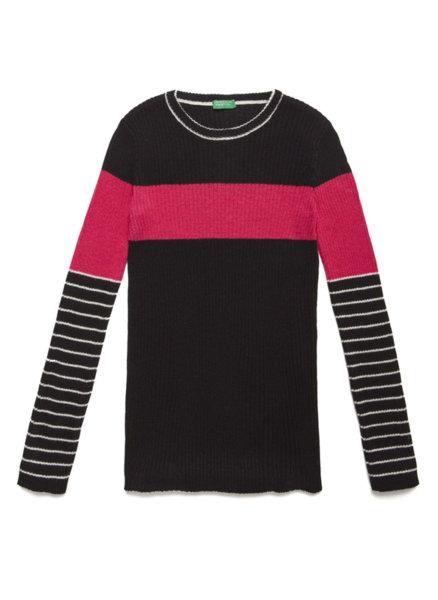 Пуловер с рипс Benetton