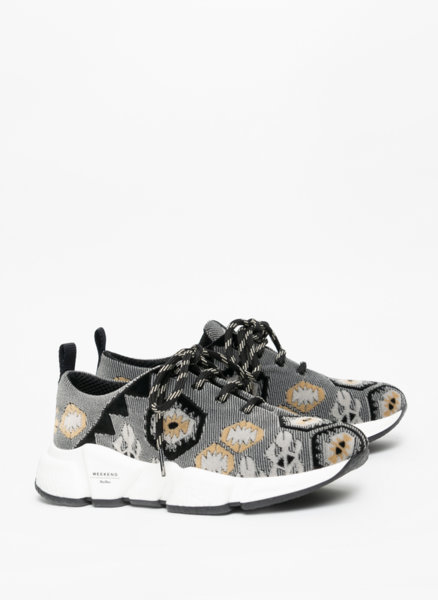 Спортни обувки с бродерия Weekend Max Mara Ocroma
