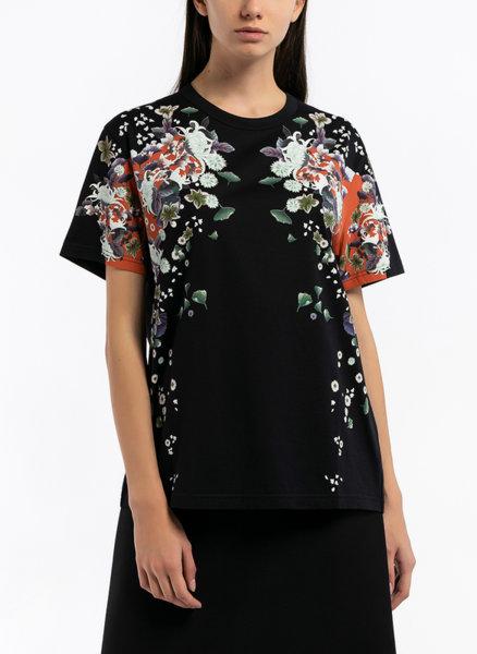 Тишърт с флорален принт Givenchy