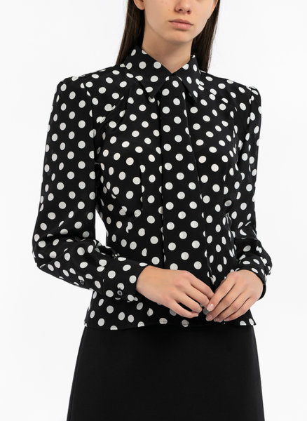 "Риза с ""Polka-dot"" принт Dolce&Gabbana"