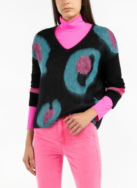 Жакардов пуловер с мохер Marc Cain Collections
