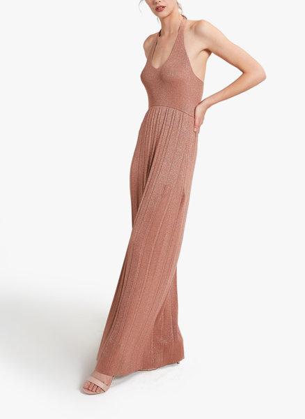 Плисирана рокля с ламе Motivi
