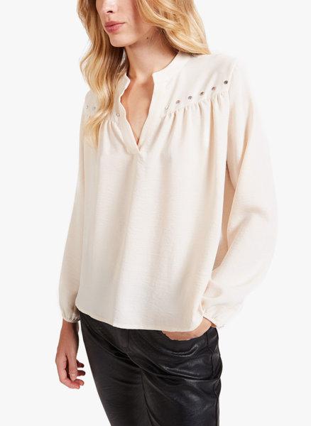 Блуза със сребристи капси Motivi
