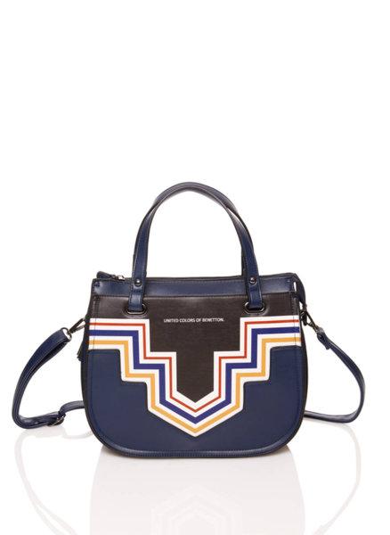 Чанта с принт Benetton