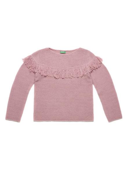 Пуловер с ресни Benetton