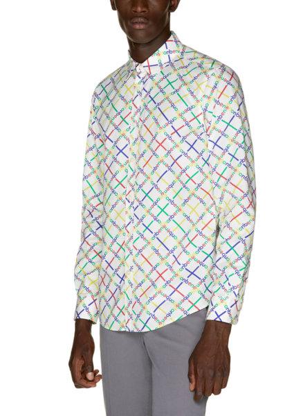 Вталена риза с принт Benetton