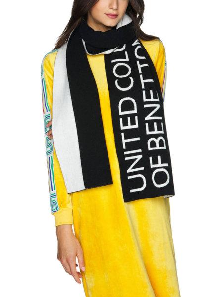 Унисекс шал с лого Benetton