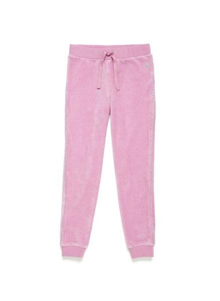 Плюшен панталон с лого Benetton