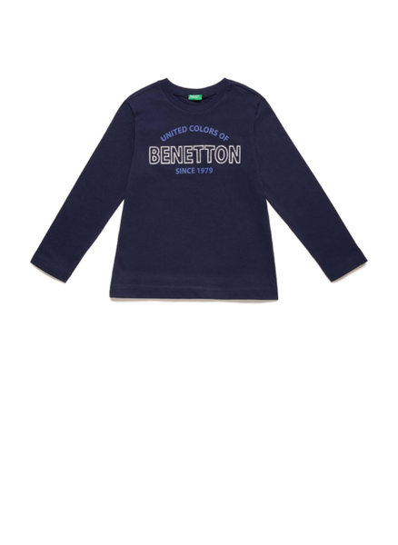 Памучна блуза с принт Benetton