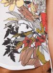 Тишърт с флорален мотив Sisley