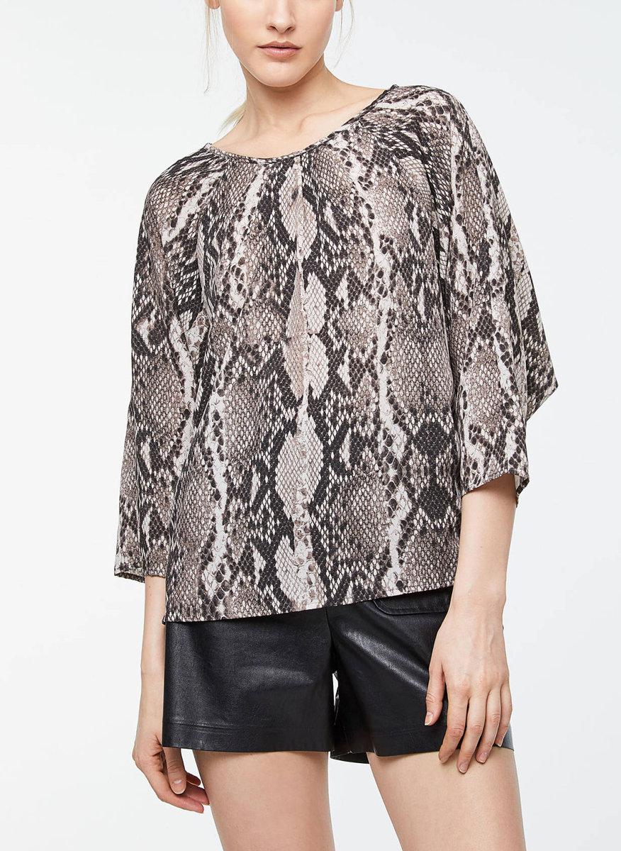Блуза с принт Sisley