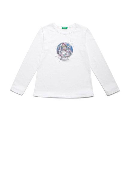 Блуза с Glitter принт Benetton