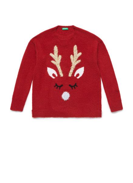 Коледен пуловер с ламе Benetton