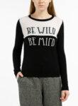 Пуловер с тематичен надпис Pennyblack Olivato