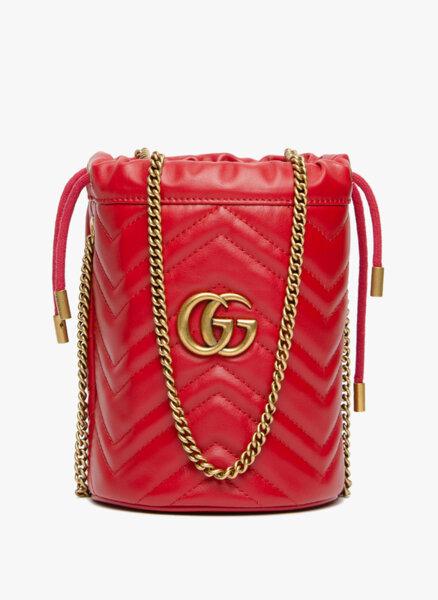 Мини  'bucket ' чанта GG Marmont Gucci