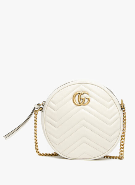 Мини кръгла чанта GG Marmont Gucci