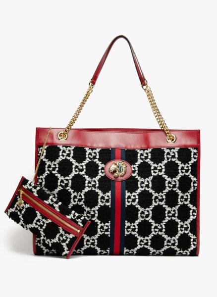 Голяма чанта от туид Gucci Dionysus