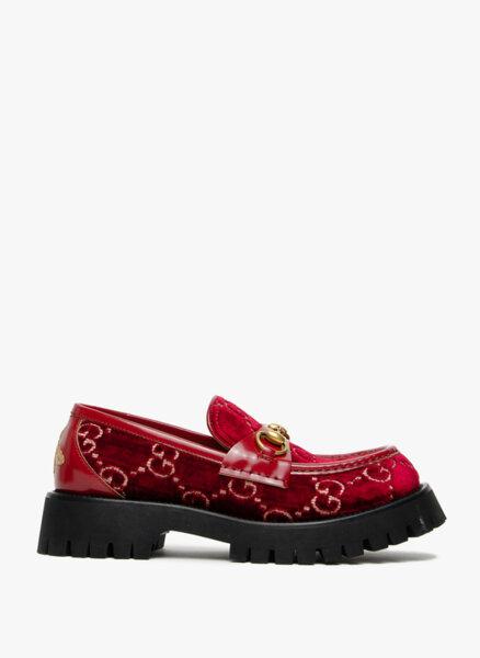 Обувки GG с кадифе Gucci