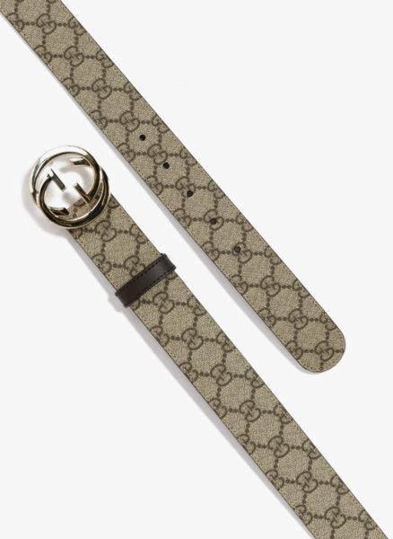 Кожен колан 'Supreme' с GG катарама Gucci
