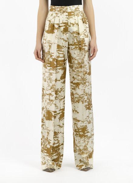 Копринен панталон с принт Max Mara Acume