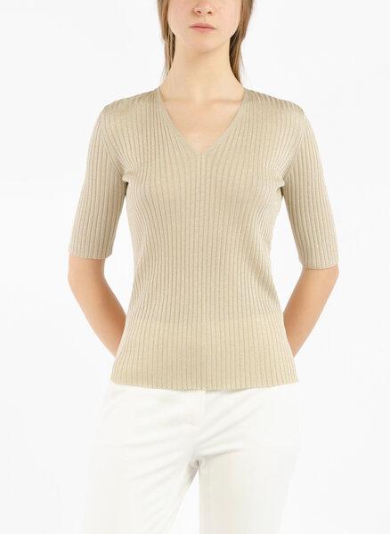Пуловер с V-образно деколте Max Mara Studio Cartone
