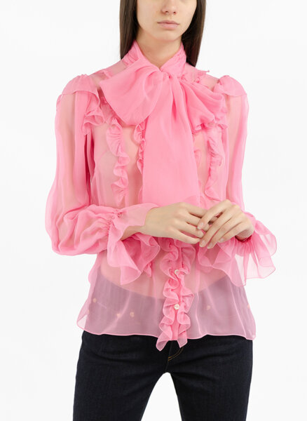 Копринена риза Dolce&Gabbana