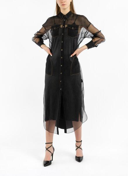 Копринена рокля с монили Brunello Cucinelli