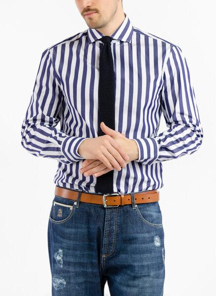 Риза в райе Brunello Cucinelli