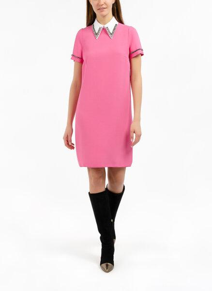 Мини рокля с  'Color blok'  детайл Nº21