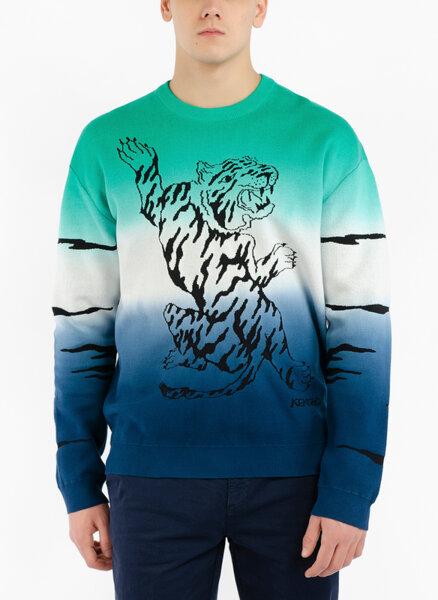Пуловер с Tiger принт Kenzo