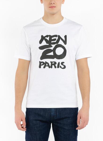 Тишърт с макси тематичен принт Kenzo