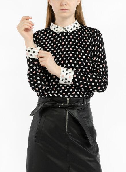 Блуза с контрастен принт Marella Sport Bosforo