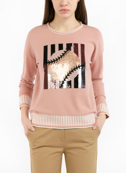 Блуза с тематичен десен и пайети Pennyblack Omino