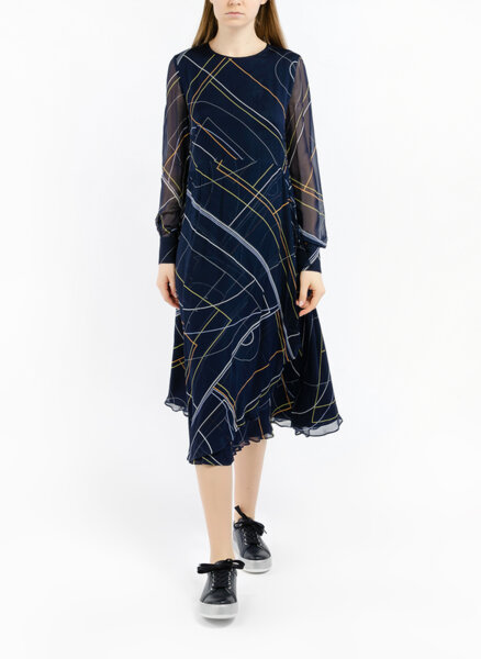 Миди рокля с принт  'Graphic Collision ' Sportmax Essenza