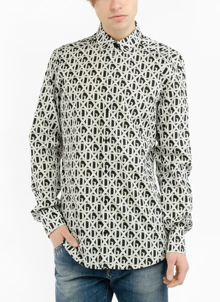 Риза с лого принт Dolce&Gabbana