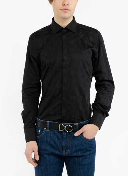 Риза в жакардов десен Dolce&Gabbana