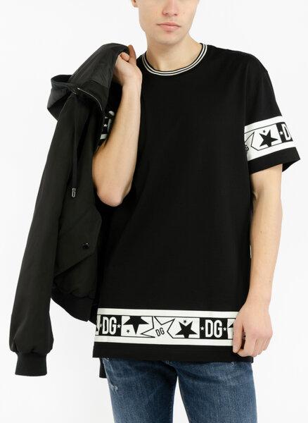 Тишърт с  'Color block' детайл Dolce&Gabbana