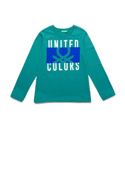 Блуза с лого принт Benetton