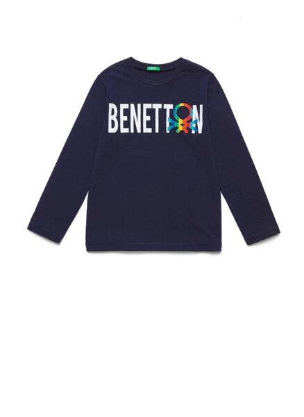 Блуза с лого апликация Benetton