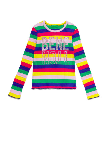Блуза с бранд лого детайл Benetton