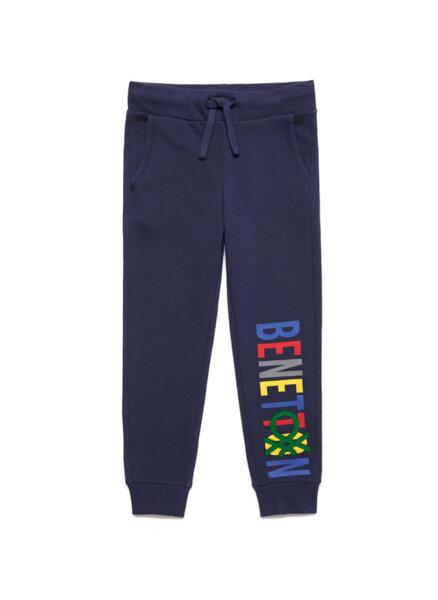 Спортен панталон с многоцветно лого Benetton