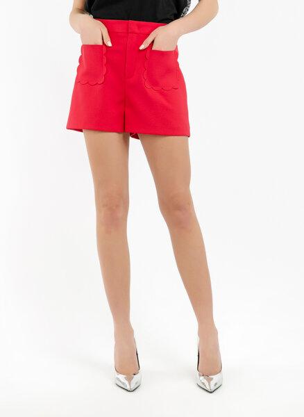Къс панталон с апликирани джобове Red Valentino