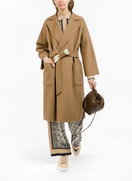 Двулицево вълнено палто Weekend Max Mara Balta