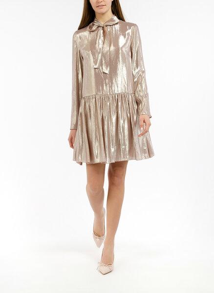 Мини рокля с 'метален ' ефект Red Valentino
