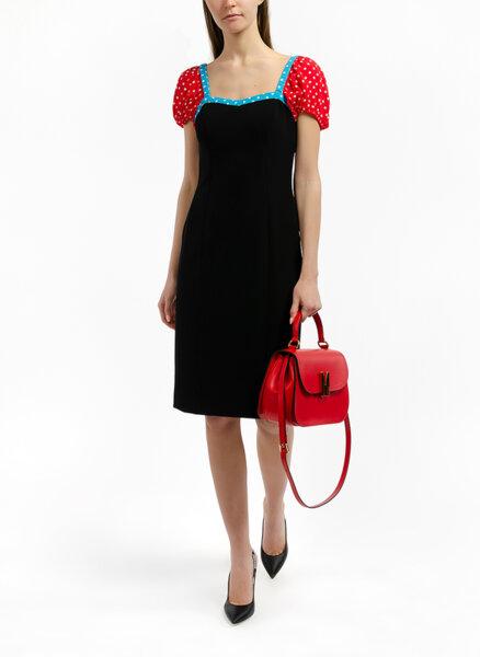 Миди рокля с контрастен детайл Boutique Moschino