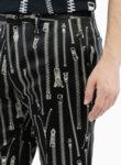 Панталон с цялостен 'zip' принт Moschino