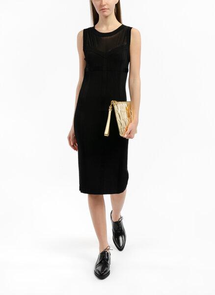 Миди рокля с тюл Boutique Moschino