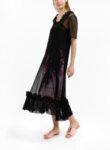 Дълга рокля от структурирана мрежа Boutique Moschino