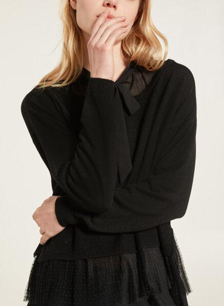 Пуловер в две материи Motivi
